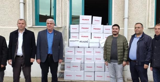 MALKARA TSO VE TİCARET BORSASI'NDAN ELAZIĞ VE MALATYA'YA YARDIM ELİ