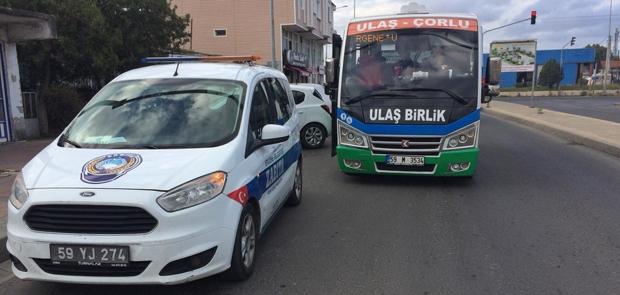 ERGENE'DE TOPLU TAŞIMA ARAÇLARINDA COVİD19 DENETİMLERİ YAPILDI